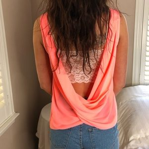5 LEFT XS-XL Go To Boho Pink Summer Draped Top